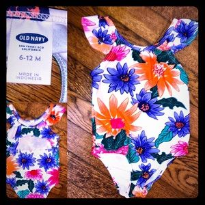 6-12 months Old Navy floral one piece